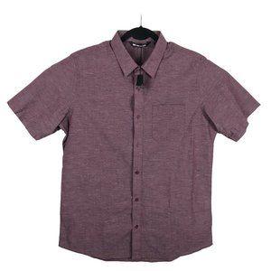 Travis Mathew Speckled Red Short Sleeve Shirt L